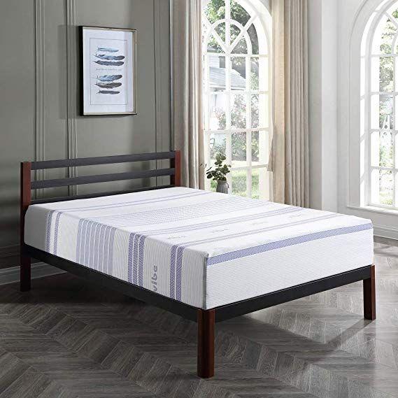 Amazon Com Classic Brands Vibe 12 Inch Gel Memory Foam Mattress Bed In A Box Mattress Only Queen Home Bed Mattress Memory Foam Mattress Ikea Doll Bed