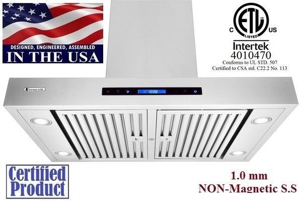 XtremeAir Non Magnetic Stainless Steel Island Range Hood PX06-I42