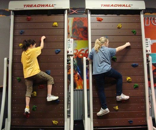 Get a sexy mountain climber's body without the risk of plummeting to your death by training on the treadmill rock climb machine. The strategically placed hand and foot holds keep your reflexes sharp while the constant motion builds endurance and burns calories.