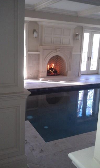 Gas log set fireplace mediterranean fireplaces