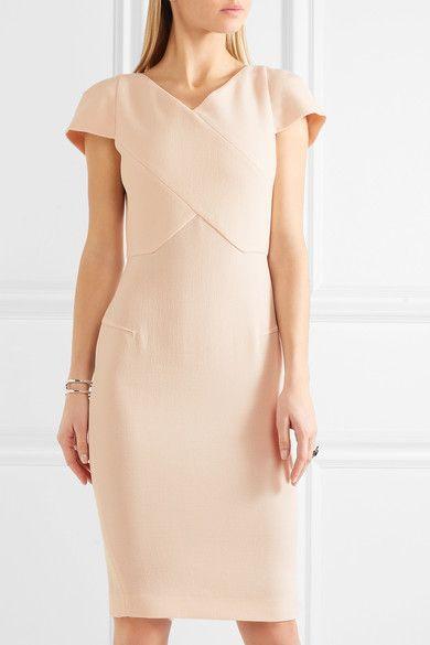 Pastel-pink wool-crepe Zip fastening through back 100% wool; lining: 93% silk, 7% elastane Dry clean Imported