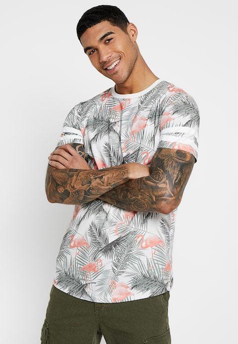 info for 1c710 c0a0b JORDIZ TEE CREW NECK - Print T-shirt - cloud dancer/flamingo ...