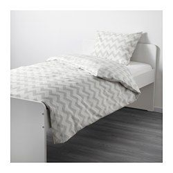 IKEA - LATTJO, Duvet cover and pillowcase(s), , The tightly-woven fabric is of 100% cotton and extra durable, fade-resistant and soft.Cotton is soft and feels nice against your child's skin.Easy to keep clean; machine wash hot (140°F).