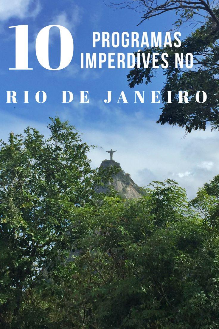 O Rio de Janeiro não leva o apelido de Cidade Maravilhosa sem motivos. A cidade é linda e repleta de atrações imperdíveis que nenhum turista ou morador pode deixar de conhecer. Eu escolhi 10 programas imperdíveis no Rio de Janeiro e vou falar para vocês um pouquinho sobre cada um deles.