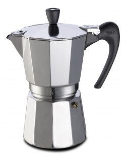 Kawiarka Aroma VIP - włoska klasyka w twojej kuchni. Oryginalna kawiarka ze słonecznej Italii, która wypełni twój dom aromatem kawy. Tradycyjny wygląd kawiarki idealnie dopasuje się do każdego wnętrza.