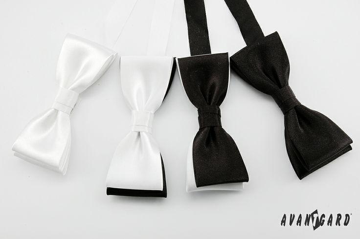 Bílé a černé motýlky AVANTGARD PREMIUM /// White and black bow ties AVANTGARD PREMIUM