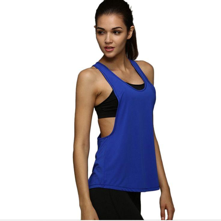 Plus la Taille S-XXL D'été Sexy Fitness Vêtements Femmes Débardeurs Lâche D'entraînement Sans Manches À Séchage Rapide Gilet Singulet Pour Femmes T-shirt