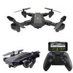 5 –REALACC XS809HW Quadcopter Drone Wifi FPV 2.4G 4CH 6 Axis Altitude Hold Function Remote Control Drone with 720P HD 2MP Camera Drone RC Toy Foldable Drone 【Shape and Material】REALACC XS809HW with foldable arm, small size, easy to carry, the quadcopter fuselage is made of high strength and resistant engineering plastics,lightweight and durable resistance. 【Camera&FPV …