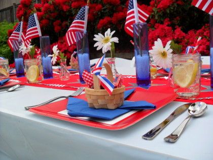 4th of July - Party Planning - Party Ideas - Cute Food - Holiday Ideas -Tablescapes - Special Occasions And Events - Party Pinching