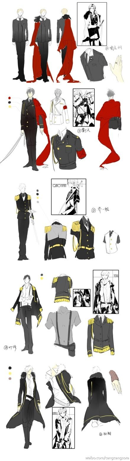 军装本全图+部分角色设定,开放COS刻章...@夏个季节采集到军服(83图)_花瓣