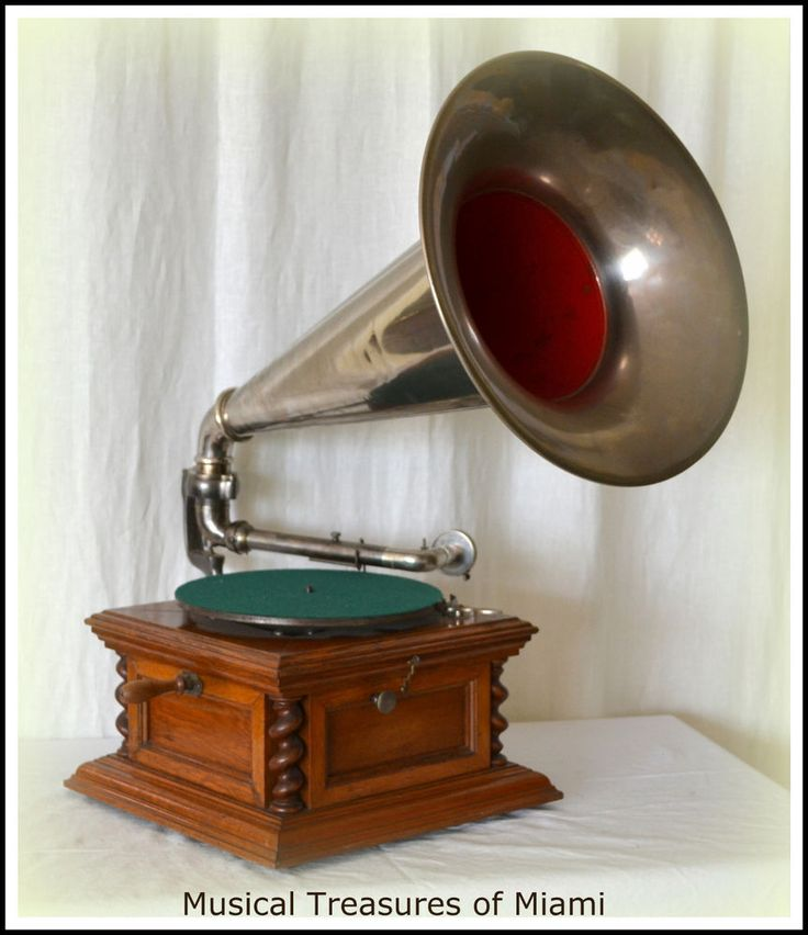 Rare Zonophone Phonograph Gramophone Antique Talking