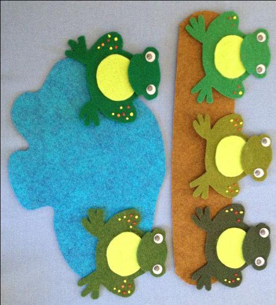 Five Little Speckled Frogs – Felt Board Magic                              …                                                                                                                                                                                 More