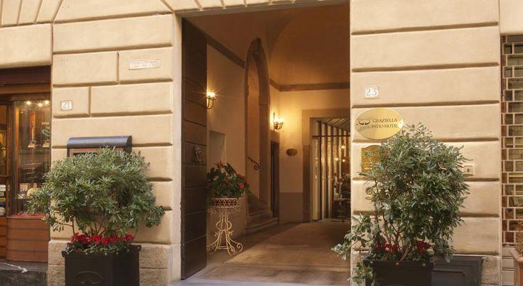 Graziella Patio Hotel Arezzo The Graziella is located in a traditional building in Arezzo's historic centre, near the frescoes of Piero della Francesca. It offers air-conditioned rooms with free Wi-Fi and Sky TV.
