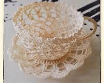 free crochet cup and saucer pattern - Yahoo Image Search Results