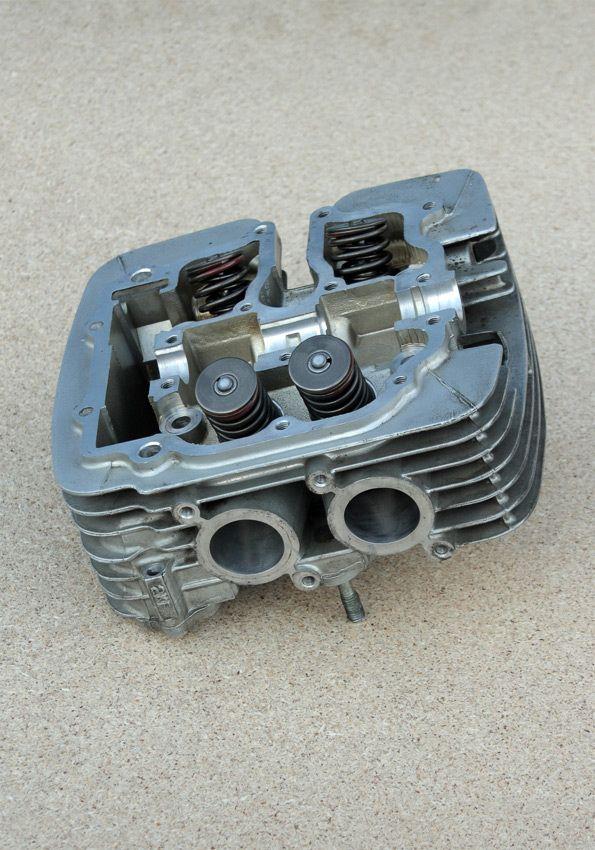 cylinder head before engine assembling. Yamaha SRX600 Reborn. Part3. Gazzz-garage