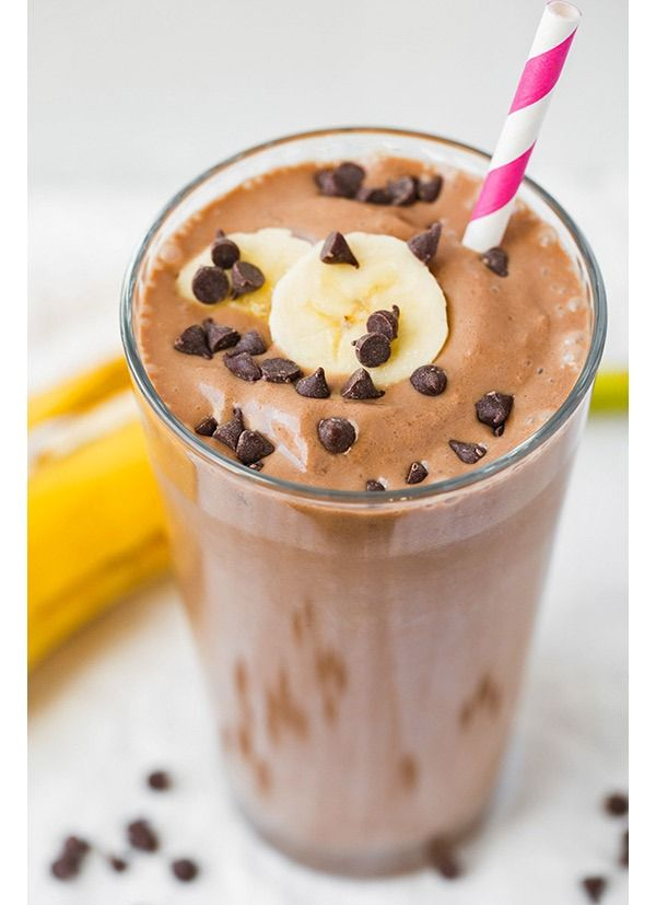 CHOCOLATE PEANUT BUTTER BANANA BREAKFAST SHAKE - Frozen bananas and peanut butter team up to give this smoothie a rich, milkshake-like consistency that will make you think it's sinful. When you use unsweetened almond milk, though, it's packed with protein without sky-high sugar counts found in other smoothies.