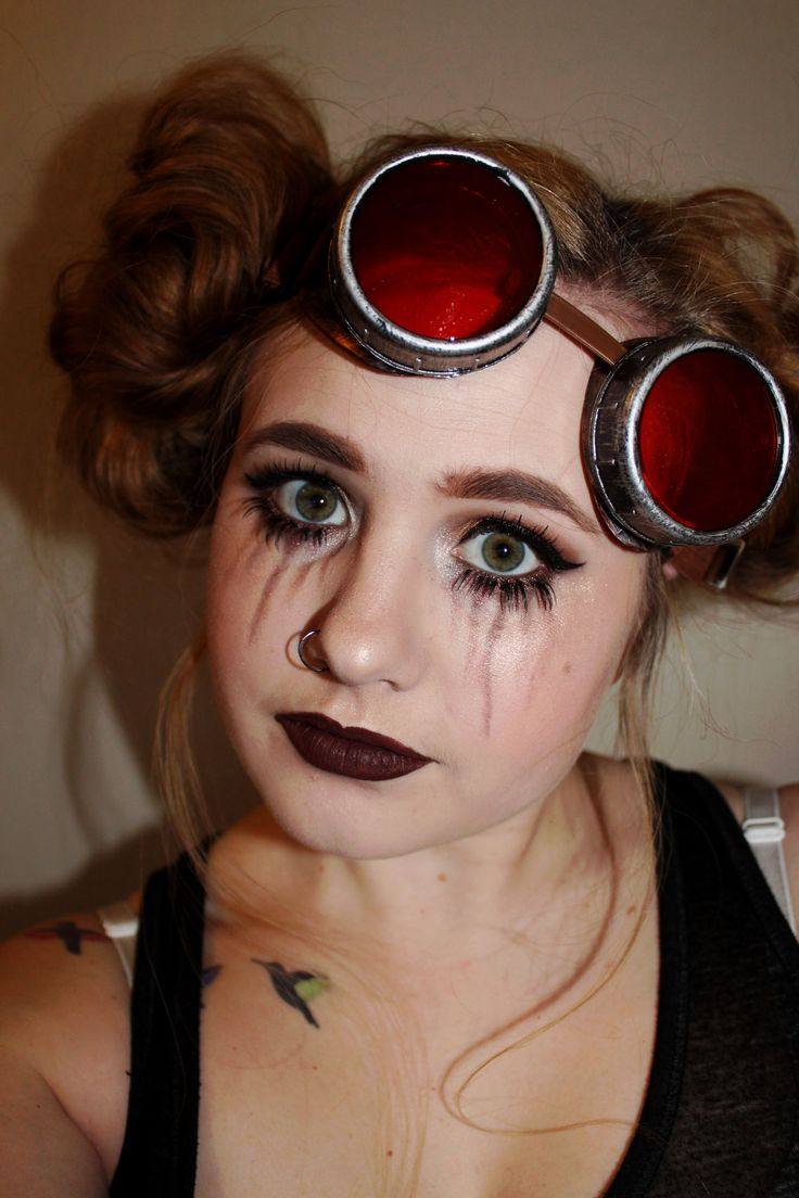 Steampunk Makeup Inspired by Glam & Gore  https://maepolzine.com/blog/steampunk-makeup-inspired-by-mykie-from-glam-and-gore