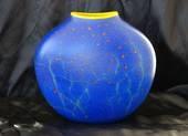 Garry Nash Blue Glass Vase