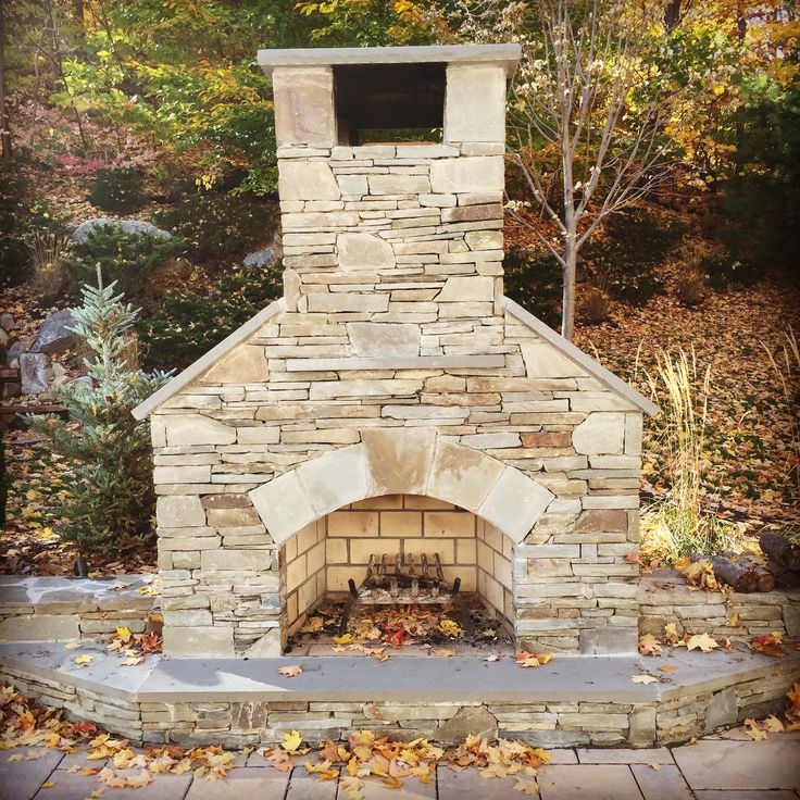 36 Quot Standard Outdoor Fireplace With Finished With Natural