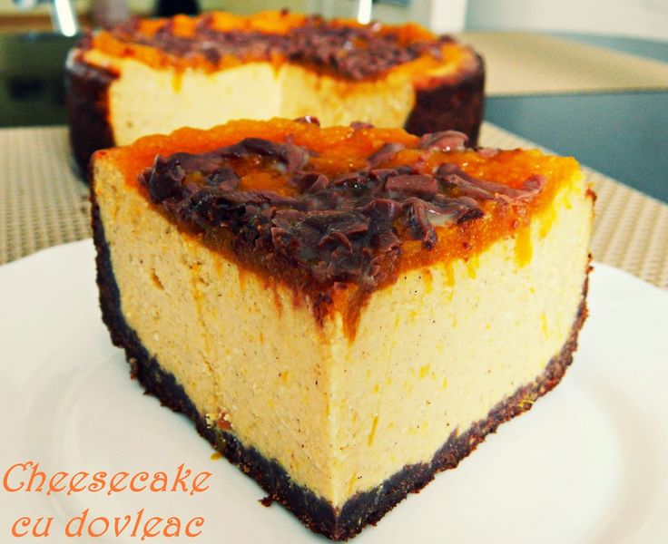 Cheesecake cu dovleac copt si topping de piure de dovleac cu miere si scortisoara si ciocolata cu lapte (20)