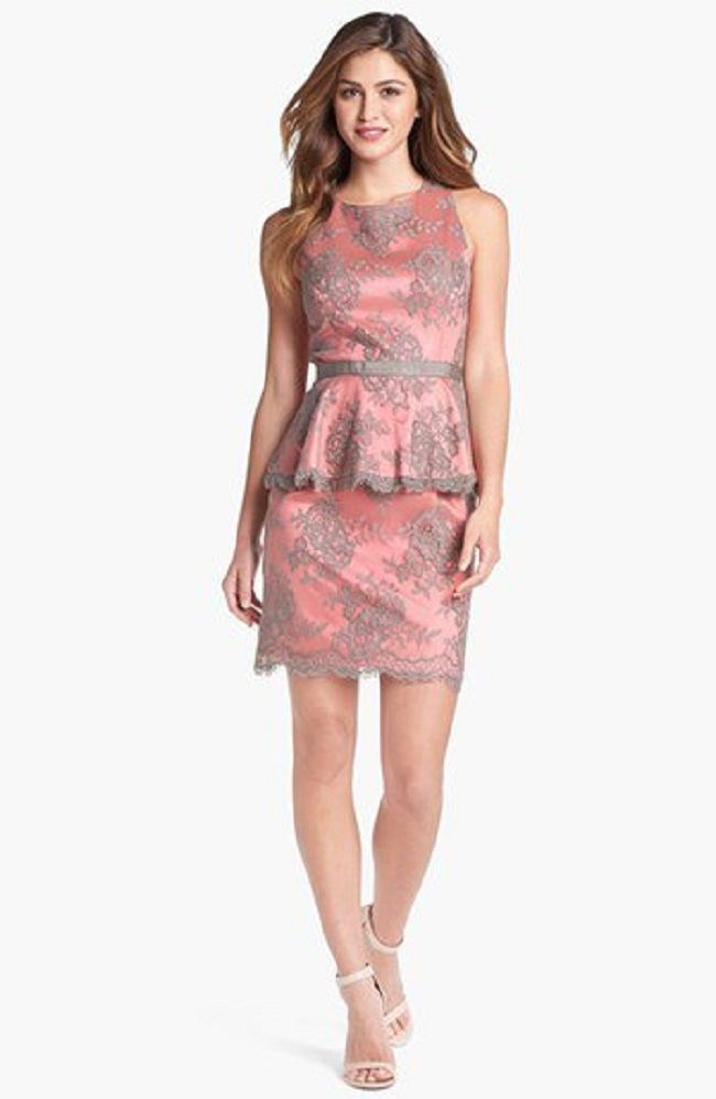 110 best images about peplum dress on pinterest v necks for Peplum dresses for wedding guest