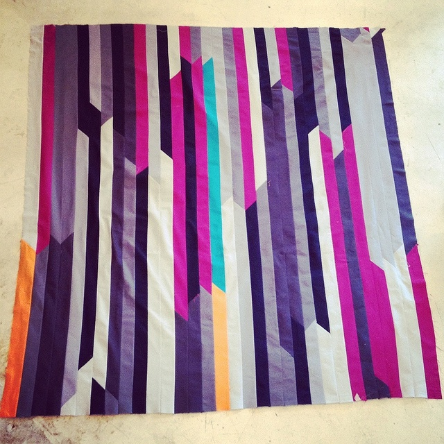 Gorgeous quilt idea: solid jelly roll race
