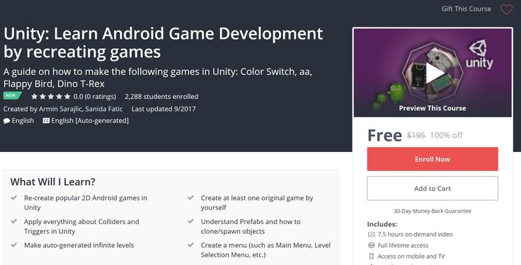 Unity: Learn Android Game Development by Recreating Games - Free Udemy Coupon  Coupon Link : http://freecouponudemy.com/unity-learn-android-game-development-recreating-games-free-udemy-coupon/