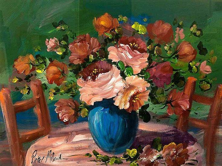 Pieter Millard (SA, born 1936) Oil, Still Life Flowers, Signed, 58 x 78
