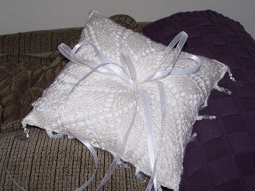 Perhaps A Knit Pillow For The Ring Bearer