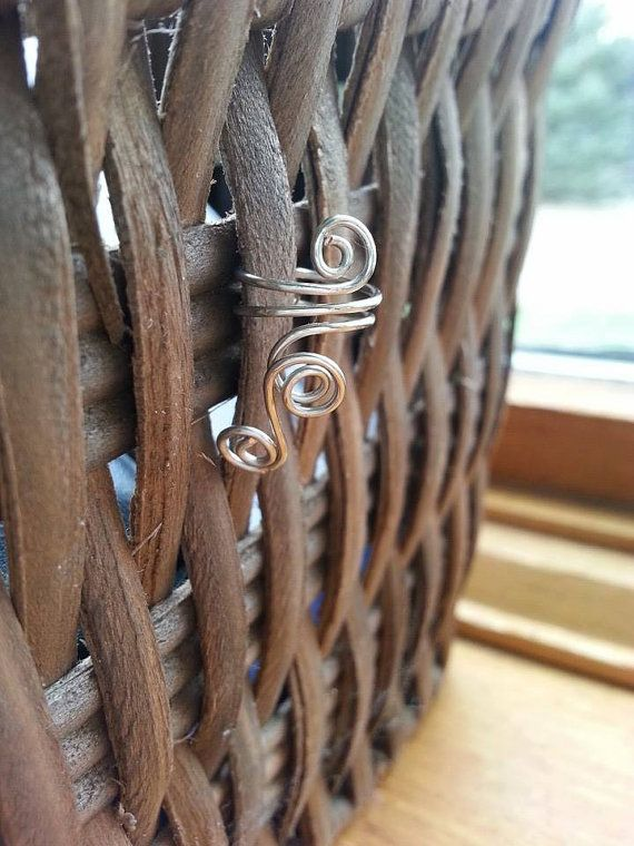 Triple Spiral Wire Ear Cuff by uniquehats09 on Etsy