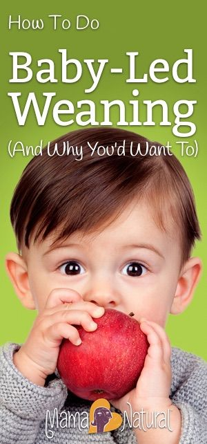 Baby led weaning encourages baby to self-feed rather than receive purées via spoon. Here's how to practice it with a list of baby led weaning first foods! https://www.mamanatural.com/baby-led-weaning/