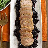 Pork Tenderloin with Blueberry Sauce Recipe
