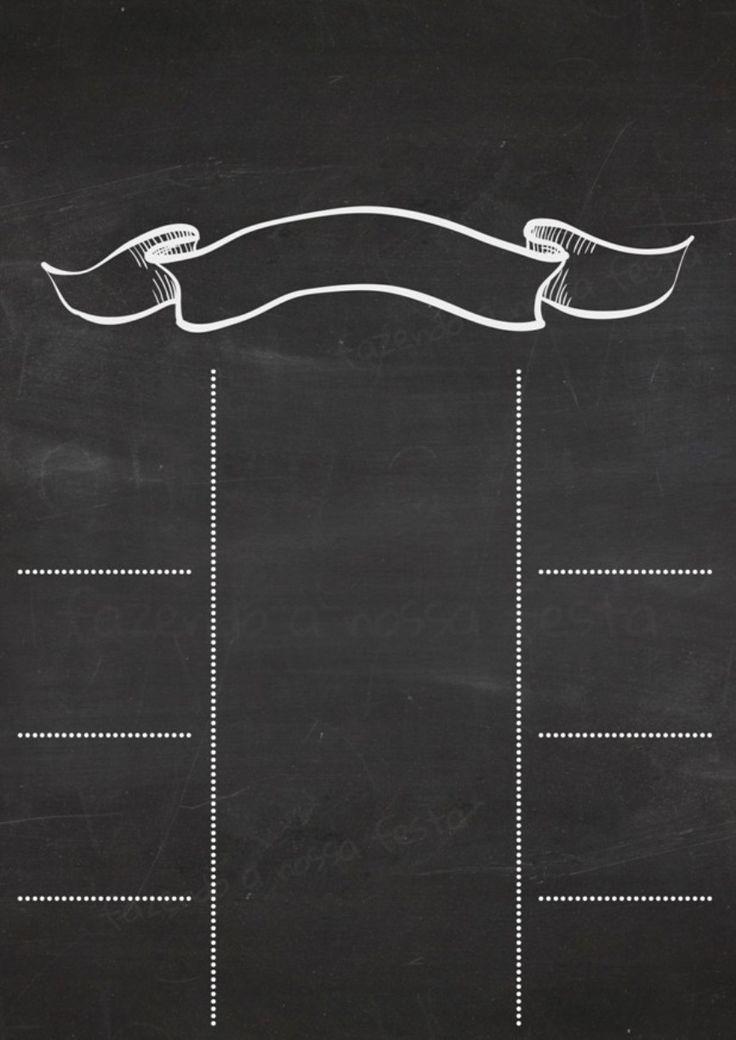 Chalkboard (quadro negro) veja como é fácil fazer o seu! …
