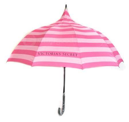 Victorias Secret Pink Stripe Umbrella