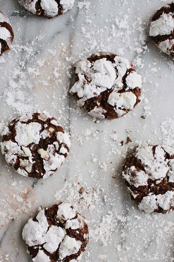 Peppermint Chocolate Crackles Chocolates, Crackle Cookies, Sweet, Food ...