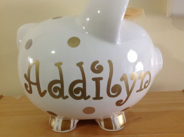 17 best images about personalized piggy banks on pinterest sport football birthdays and large - Engraved silver piggy bank ...