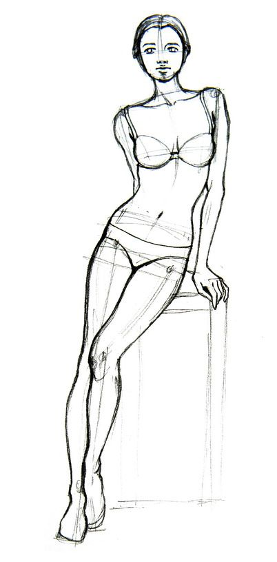 Today's Drawing Class: Drawing the Female Body    Drawing how-to How to Draw Basic Human Figures  via wikiHow.com