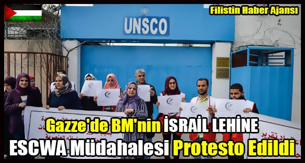 Gazze kentindeki BM Eğitim, Bilim ve Kültür Örgütü (UNESCO) binası önünde toplanan onlarca Filistinli, Guterres'e, BM Batı Asya Ekonomik ve Sosyal Komisyonu (ESCWA) raporuna yönelik tutumundan vazgeçme çağrısında bulundu.   #bm escwa #bm gazze protesto #escwa israil #escwa israil rapor #filistin halkı israil ırkçılık rapor #gazze protesto #guterres bm israil