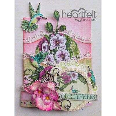 Heartfelt Creations - Pink Orchid Foldout Card Project