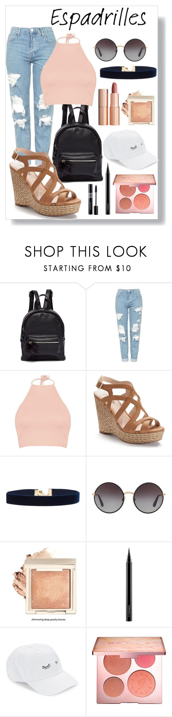 """""""Espadrilles"""" by glitter36 ❤ liked on Polyvore featuring New York & Company, Topshop, Boohoo, Jennifer Lopez, Vanessa Mooney, Dolce&Gabbana, Charlotte Tilbury, MAC Cosmetics, Body Rags and Sephora Collection"""