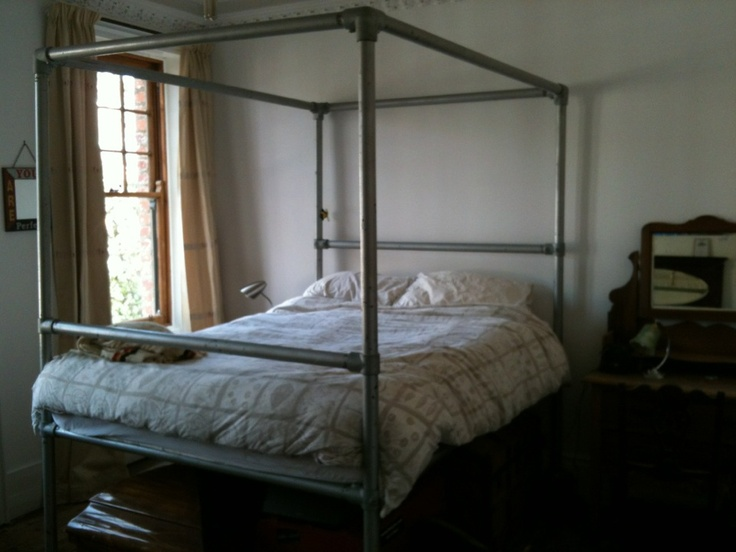 Four Poster Bed Made From Scaffolding Te Guy Not Only