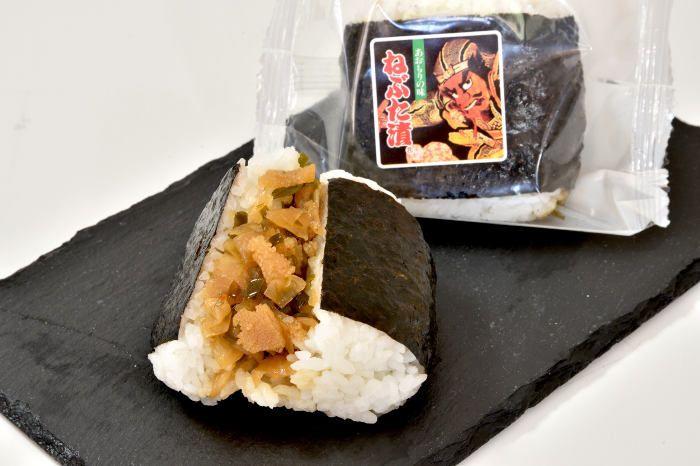 青森では知らない人はいないくらいの「ねぶた漬」がおにぎりになり登場だ。東北地区3県のスーパーで販売する。