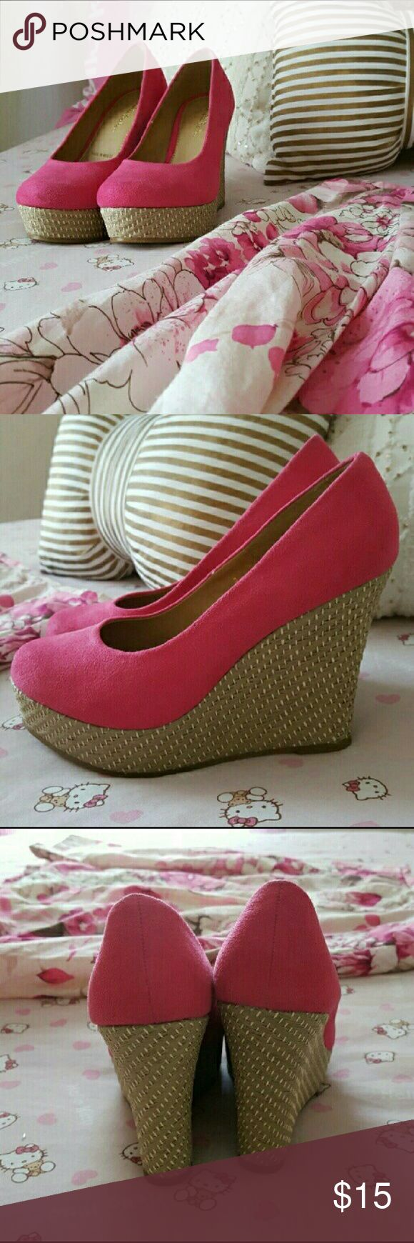 NWOT SZ 7.5  Pink Suede Wedges Gabriella Rocha Brand new Size 7.5 Pink Suede Wedges.  In perfect condition by Gabriella Rocha. They are marked size 8 but fit like a 7.5. Gabriella Rocha  Shoes Wedges