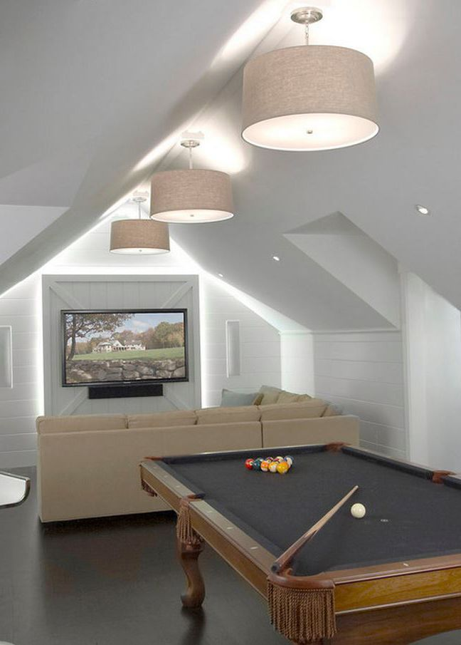 Modern Media Room By Vicente Burin Architects Using Attic Space