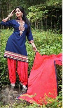 Navy Blue Color Cotton Straight Cut Punjabi Patiyala Suit | FH527679745 #punjabi , #patiyala, #shindhi, #suits, #narrow, #dresses, #salwar, #kameez, #straight, #long, #heenastyle, #indian, #online, #shopping, #clothing, #womens, #girls, #style, #mode, #henna, #hina, #mehendi, #dupatta, #chudidar, @heenastyle , #pakistani, #readymade