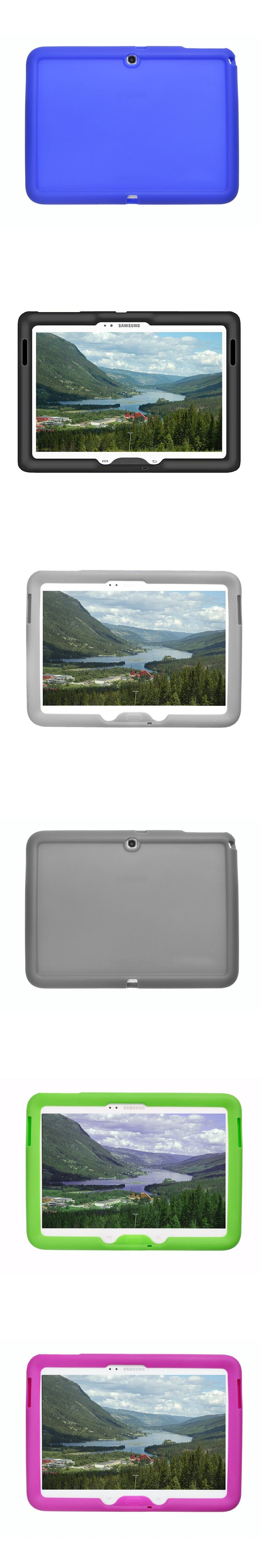 MingShore Rugged Tablet Silicone Cover Cas For Samsung Galaxy Tab 3 P5200 P5210 10.1 Cover For Galaxy Tab 3 10.1 P5220 Flat Case