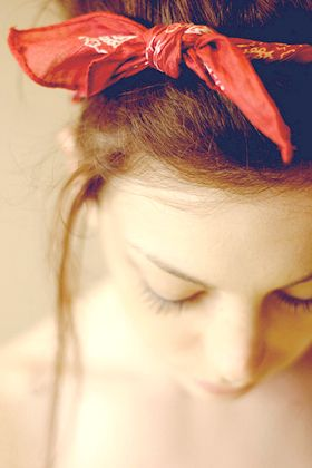Go retro with a bandana , 7 Hair Accessories That Work After 30.  I don't ever plan to out-age the bandana. Love!