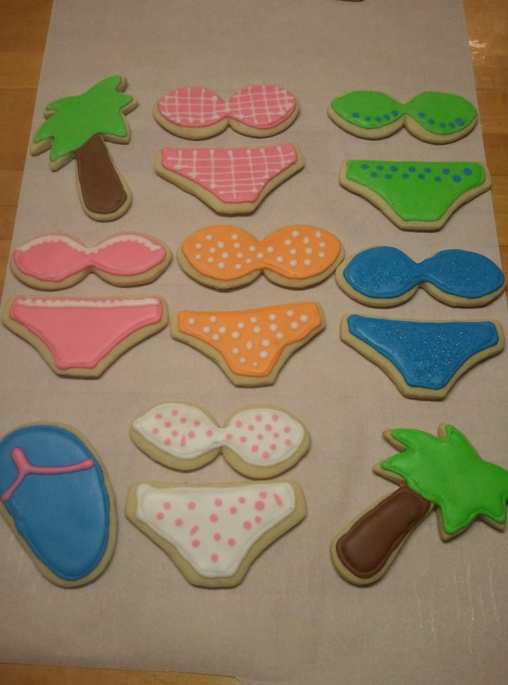 Cookies that I made for Jill's Honeymoon Shower/Bachelorette Party.