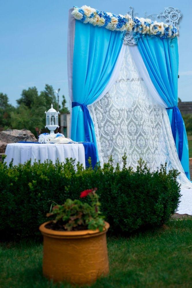 Голубые облака, оформление свадьбы в Черкассах