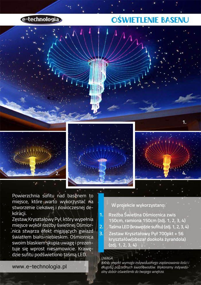 Żyrandol Światłowodowy Ośmiornica e-technogia